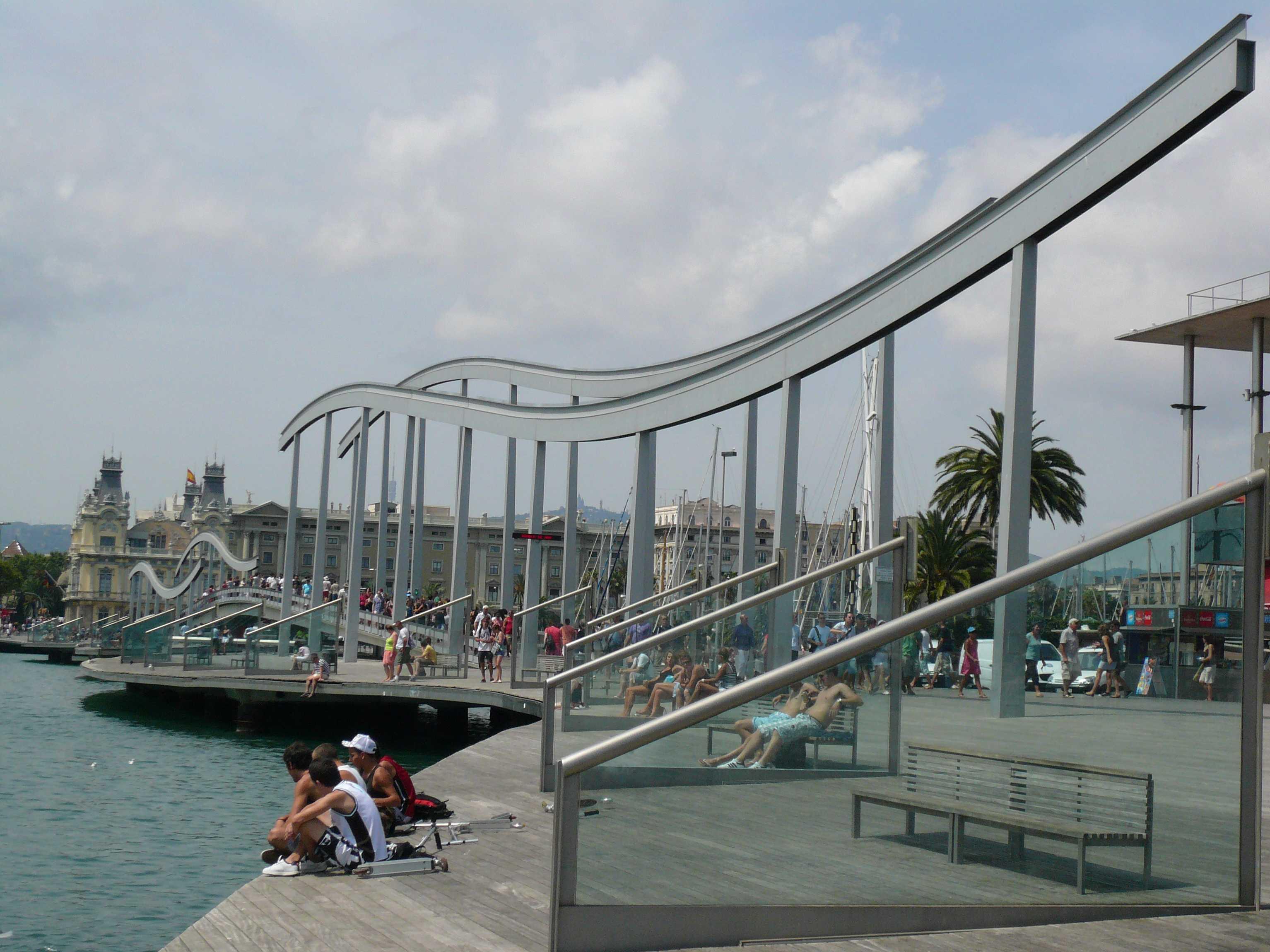 spanien costa brava sehensw rdigkeiten barcelona ramblas del mar. Black Bedroom Furniture Sets. Home Design Ideas